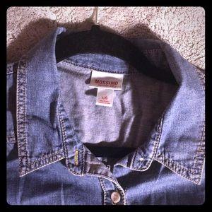 100% Cotton Mossimo Button Down Jean Shirt